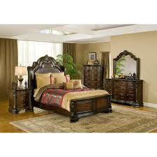 Mirrored Furniture Bedroom Set Alexandria Bedroom Bed Dresser U0026 Mirror Queen B1100