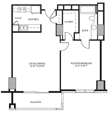 How To Design A Bathroom Floor Plan Floor Plan B 742 Sq Ft The Towers On Park Lane