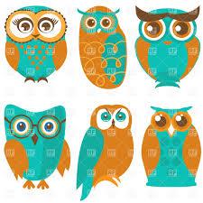 сute cartoon owls and birds vector clipart image 39057 u2013 rfclipart