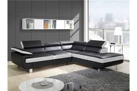 canapé design noir et blanc canapé design d angle studio cuir pu noir canapés d angle