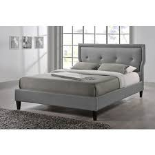 Bjs Bed Frame Baxton Studio Marquesa Size Bed Gray Bj S Wholesale Club