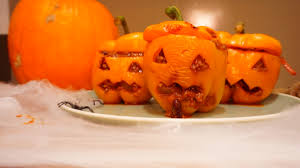 halloween u201ccarved pumpkin u201d chilli stuffed peppers