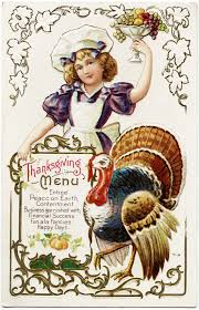 free vintage thanksgiving menu postcard design shop