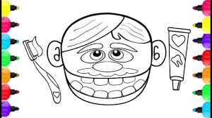 baby dental care coloring pages how to draw doctor drill dental