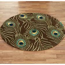Bathroom Round Rugs by Floors U0026 Rugs Contamporary Round Brown Peacock Rug For Interior