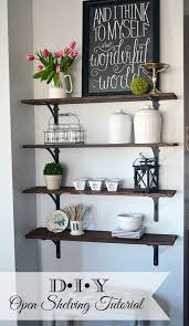 Ideas For Decorating Kitchen Walls Best 25 Kitchen Wall Shelves Ideas On Pinterest Open Shelving