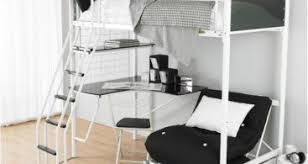 Bunk Bed With Sofa Bed Underneath White Color Futon White Bunk Beds Double Loft Bed With Sofa Underneath