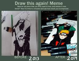 draw this again meme naruto and kakashi by catstudio7 on deviantart