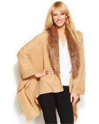 sweater with faux fur collar inc international concepts faux fur collar poncho sweater where
