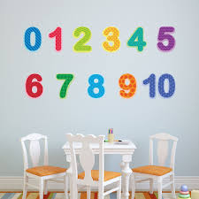 classic baby nursery stencils stickers and coordinating home decor preschool number decals 0 10 baby and toddler number wall stickers