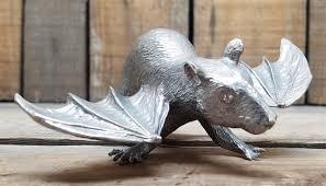 cast pewter winged bat ornament