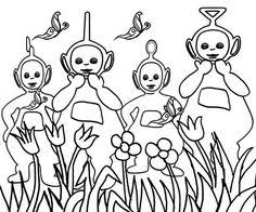 teletubbies coloring pages fall kids printable free