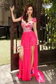 inpuff rochii rochie lunga dantela si voal roz rochie lunga de seara fusta