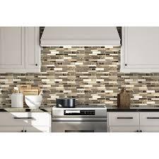 backsplash peel and stick mosaic wall tile installation
