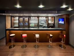 Diy Home Bar by Cool Diy Home Bar In Basement Interior With Minimalist Stools And