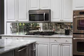 kitchen antique mirror backsplash installed mirrored kitchen ideas