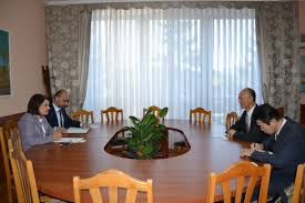 the ambassador dining room the minister of culture had a meeting with the ambassador of the