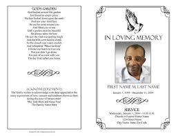memorial phlets free celebration of program template tolg jcmanagement co