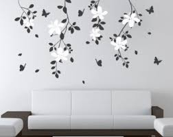 Stick On Wall Flower Tree Decal Etsy