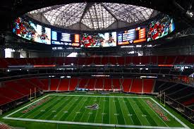 the atlanta falcons mercedes benz stadium now finished in 27 stadium officials partnered with scad to curate 180 original commissioned installations from 45 artists throughout the property including this radcliffe