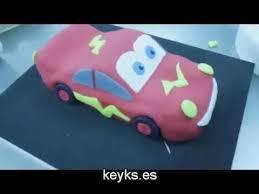 how to make lightning mcqueen fondant cake cars cake youtube