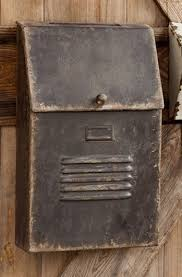 Rustic Iron Mail Slot Outdoor - cottage style slot house mailbox metal antique aged vintage