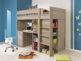 conforama chambre d enfant lit surélevé combiné largo coloris chêne gris prix promo lit