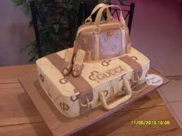 gucci suitcase and louis vuitton handbag model cake to make this