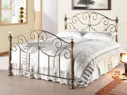 living victoria double brass bed frame with crystal finials
