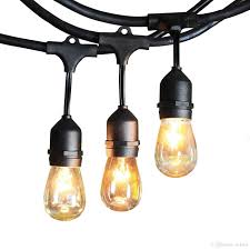 edison string lights 48ft 15sockets outdoor water proof commercial patio industrial