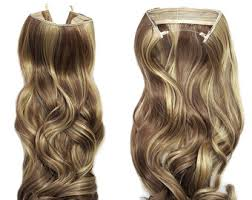 halo hair extensions etsy