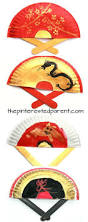 painted paper plate hand fans perfect for chinese new year or tet