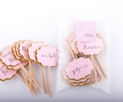 pink and gold baby shower decorations baby shower cupcake toppers gold and pink decorations pink