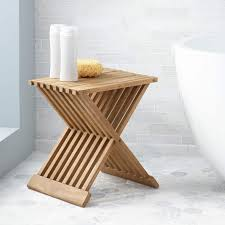 folding teak shower seat bathroom