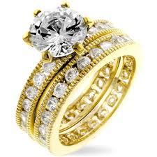 14k gold wedding ring sets tristas 14k gold wedding ring set daddythinks likes