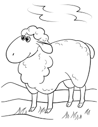 cute cartoon sheep coloring free printable coloring pages