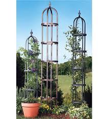 steel garden obelisk plant stands plow hearth