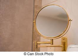 Mirror In A Bathroom Stock Photo Of Fashion In Bathroom Couple Of Young Barefoot