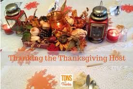 thanking the thanksgiving day host with a thank you note