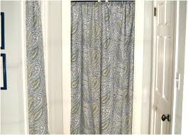 Shower Curtain For Closet Door Curtains Instead Of Closet Doors Sohoshorts Me