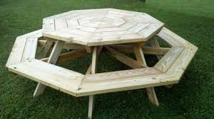 Woodworking Plans For Octagon Picnic Table by 21 Wooden Picnic Tables Plans And Instructions Guide Patterns