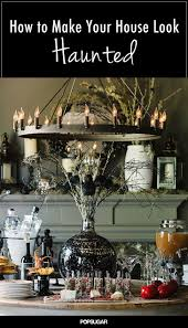 fright lined dining room cool idea for spooking up your fireplace this halloween details