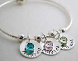 personalized bangle bracelets buy a made personalized bangle bracelet with name charms and