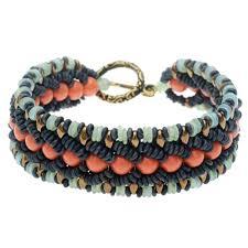bracelet woven images Coral cove woven bracelet beadaholique jpg