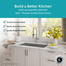 usa made kitchen faucets stainless steel kitchen sink combination kraususa com