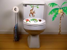 monkey bathroom toilet decor potty training concepts