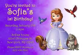 free sofia birthday invitations templates wedding