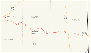 New Mexico Map With Cities And Towns by Arizona State Route 264 Wikipedia