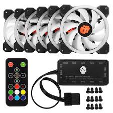 120mm rgb case fan 6pcs computer case pc fan rgb adjust led 120mm quiet ir