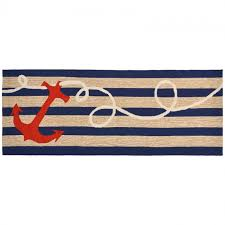 Outdoor Runner Rug Runner Rug Anchor Stripes Indoor Outdoor Home Accessories